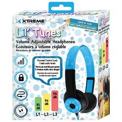 Lil' Tunes Volume Adjustable Kids Headphones - Blue