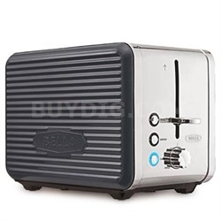 Linea 2 Slice Toaster Grey