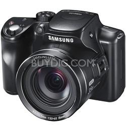 WB2100 16 MP BSI CMOS Sensor 35x Opt Zoom Digital Camera - Black