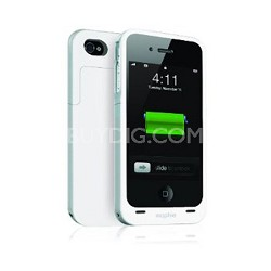 Juice Pack Air Case and Rechargeable Battery for iPhone 4 (White)