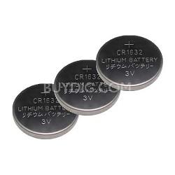 3 PACK 3 Volt Lithium Button Cell Watch Battery ECR1632BP (CR1632)