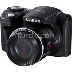 PowerShot SX500 IS 16MP Digital Camera (Black)