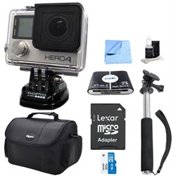 HERO 4 Silver Action Camera All Inclusive Bundle