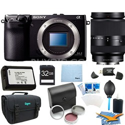 NEX7/B - NEX-7 24.3 MP Camera Body (Black) 32 GB Bundle with 18-200mm Zoom Lens