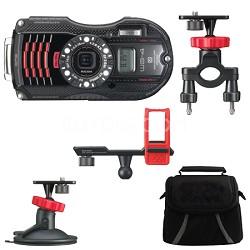 WG-4 GPS 16MP HD 1080p Waterproof Digital Camera Action Pack - Black