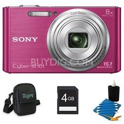 DSCW730 16 MP 2.7-Inch LCD Digital Camera Pink Kit