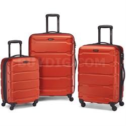 """Omni Hardside Luggage Nested Spinner Set (20""""/24""""/28"""") Burnt Orange - OPEN BOX"""