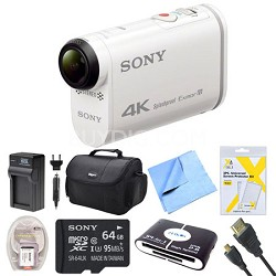 FDR-X1000V 4K Action Cam 64GB Deluxe Bundle