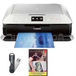 MG7520 Color Wireless All-in-One Inkjet Printer - White + Adobe PEPE12, 16GB USB