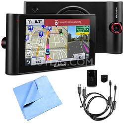 """nuviCam LMTHD 6"""" GPS with Built-in Dashcam, Maps & HD Traffic AC Adapter Bundle"""