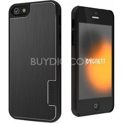 Urban Shield Black Hard iPhone 5 Case With Metal Cove