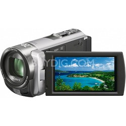 Handycam DCR-SX45 Palm-sized Silver Camcorder