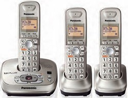 KX-TG4023N DECT 6.0 Expandable Digital Cordless Answering System with 3 Handsets