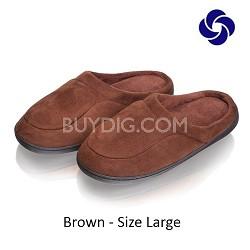 Memory Foam Slippers in Brown Size Large (M 8-9, W 10-11)
