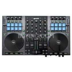 DJ G4V DJ Controller 4 Channel Midi Controller with Soundcard
