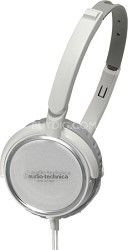 ATH-FC700AWH Portable Headphones with 40mm Neodymium Drivers (White)