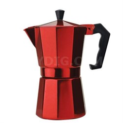 Stovetop Espresso 6cup Red