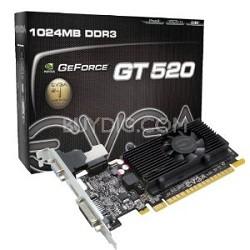 GEFORCE GT 520 SC PCIE 2.0 1GB DDR3 DUAL LINK DVI-I HDMI 810MHZ