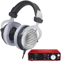 DT 990 Premium Headphones 32 OHM w/ Focusrite 2i2 USB Audio Interface