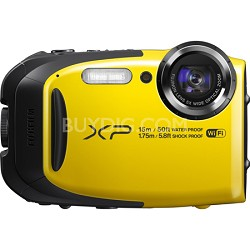 FinePix XP80 16MP Waterproof Digital Camera with 2.7-Inch LCD - Yellow
