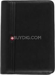Swiss Gear Leather PDA Black Junior Zip-Folio iPhone Cell Phone Case