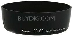 ES-62 Lens Hood For Canon EF 50 f/1.8 II (w/ Hood Adapter 62)