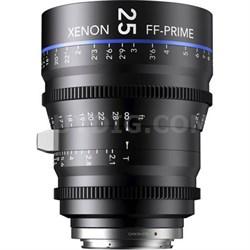 25MM Xenon Full Frame 4K Prime XN 2.1 / 25 Feet Lens for Sony E Mounts