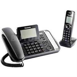 2-Line Corded Telephone System with 2 Cordless Handsets - KXTG9581B