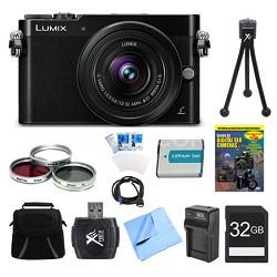 LUMIX GM5 DSLM Black Camera Plus 12-32mm Lens 32GB Bundle