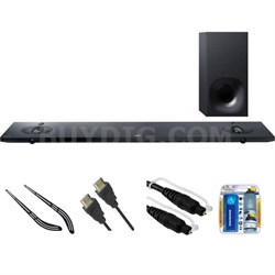 Sound Bar with Hi-Res Audio and Wireless Streaming HT-NT5 w/ Bracket Kit