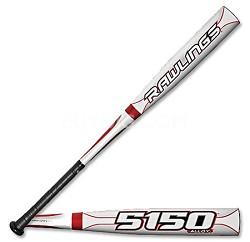 "2010 Rawlings 5150 Alloy Adult Baseball Bat BB5150A (-3) ""33"