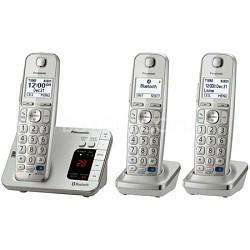 KX-TGE263S DECT 6.0 Link2Cell Bluetooth Cellular Conv. 3 Handsets REFURBISHED
