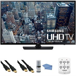 UN48JU6400 - 48-Inch 4K Ultra HD Smart LED HDTV + Hookup Kit