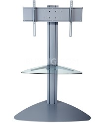 Flat Panel TV Stand (Silver) for 32-inch to 50-inch TVs w/ One glass shelf