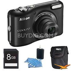 COOLPIX L28 20.1 MP 5x Zoom Digital Camera - Black Plus 8GB Memory Kit