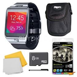 Gear 2 Black Watch, Case, and 8GB Card Bundle