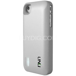 Exera Modular Detachable Battery Case for iPhone 4S 4 - White/Silver