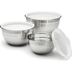 Set of 3 Stainless Steel Mixing Bowls with Lids (CTG-00-SMB)