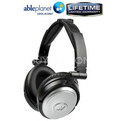 NC190SM Travelers Choice Active Noise Canceling Headphones w/ LINX AUDIO -Silver