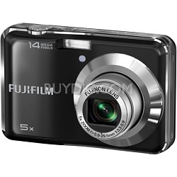"FinePix AX300 14 MP 2.7"" LCD Digital Camera w/ Fujinon 5x Wide Angle Zoom Black"