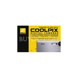 2 Year Extended Warranty on Coolpix Digital Cameras