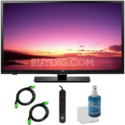 32LB520B - 32-inch HD 720p LED TV Plus Hook-Up Bundle