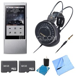 AK Jr. Hi-Res 64GB Music Player ATH-AD900X Audophile Open-Air Headphone Bundle