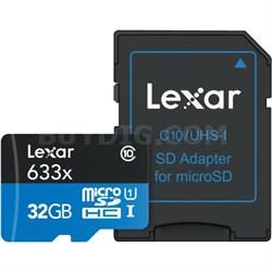 High-Performance 633x 32GB microSDHC UHS-I Class 10 Memory Card