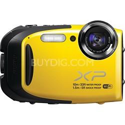 FinePix XP70 Waterproof/Shockproof Digital Camera - Yellow - OPEN BOX
