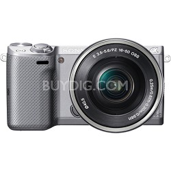 NEX-5TL Compact Interchangeable Lens Camera with 16-50mm Power Zoom Lens Silver