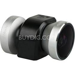 4-in-1 Lens for iPhone 4/4S - Silver/Black