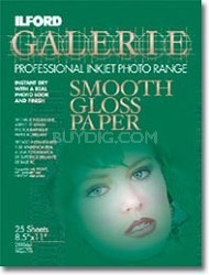 Smooth Gloss 8.5 x 11 Photo Paper - 25 Pack