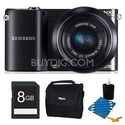 NX1100 20.3MP Black Smart Digital Camera with 20-50mm Lens 8GB Bundle