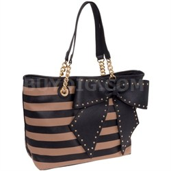 Women's Bow-Lette Tote Bag in Spice/Black